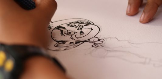 La ilustradora hidaguense B3rr dibuja a Cantínflas
