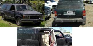 Asegura PGJEH tres vehículos de huachicoleros