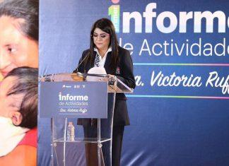 Victoria Ruffo rinde primer informe al frente del DIF Hidalgo