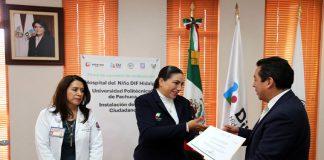 Instala DIF Aval Ciudadano del hospital infantil