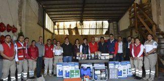 Protección civil de Acaxochitlán recibió equipamiento