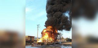 Se registra incendio en Cuautepec por fuga de combustible