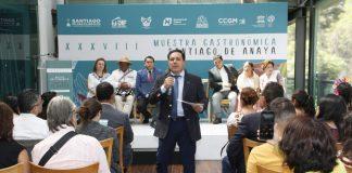 Presentan la XXXVIII Muestra Gastronómica de Santiago de Anaya