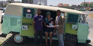 Llegan a Hidalgo turistas argentinos que viajan en combi