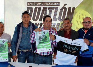 Recibe Santa María Amajac fecha clasificatoria de serial de duatlón