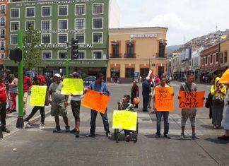 FOIDEH provoca caos vial en centro histórico de Pachuca