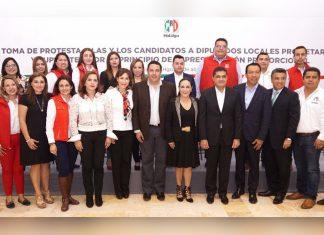Aprueba PRI lista de candidatos a diputados locales por representación proporcional