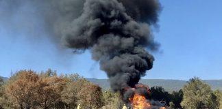 Se registra incendio en ducto de Pemex en Santiago Tulantepec