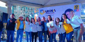 Darina Márquez agradeció el apoyo ciudadano con recital