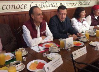 Candidatos de Morena se reúnen con comerciantes y restauranteros