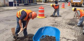 En Tulancingo se han atendido 80% de calles con bacheo