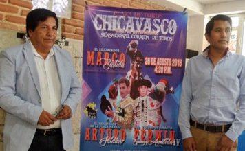 Presentan cartel taurino de feria de Chicavasco 2018