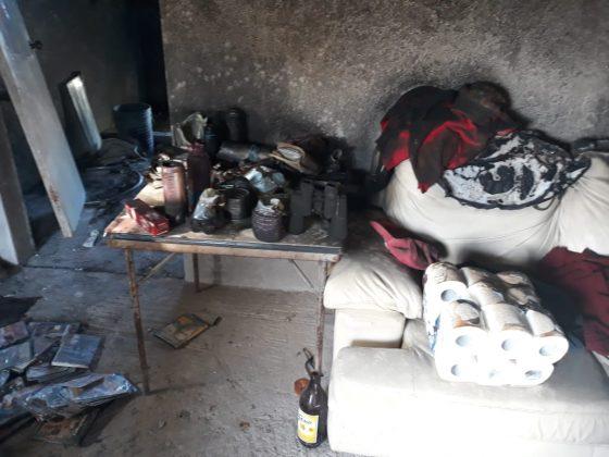 Huachicol consume vivienda y camioneta, dos lesionados con quemaduras