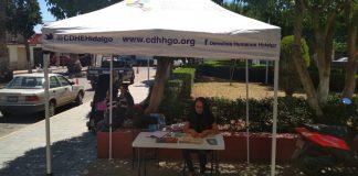 Brinda módulo de la CDHEH en Tulancingo 86 orientaciones jurídicas