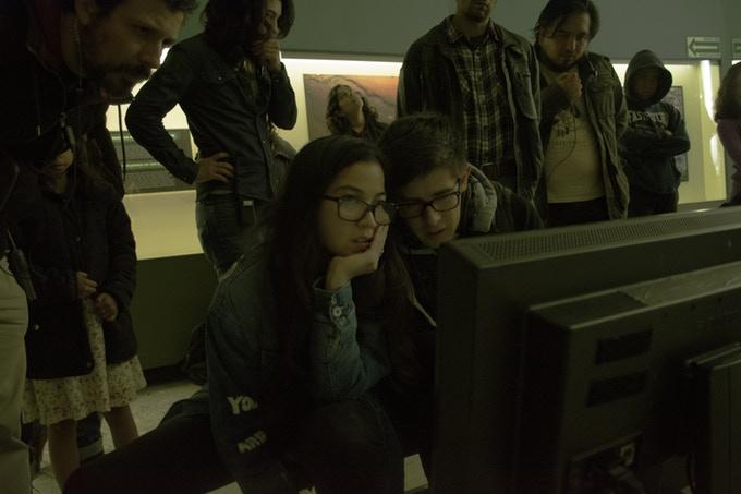 Natalia Beristain en set