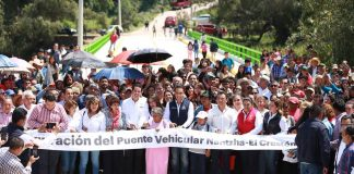 Inaugura Fayad puente vehicular Nantzha-El Crestón en Tula