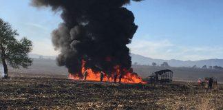 Fuga de hidrocarburo provoca incendio en Huichapan
