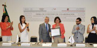 ISSSTE y CIJ firman convenio contra adicciones