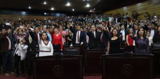 Rinden protesta al cargo diputados de la LXIV legislatura local