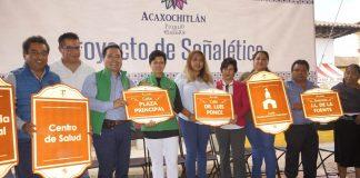 Implementan proyecto de señalética en Acaxochitlán