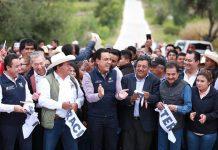 Entregan obras en Tezontepec de Aldama