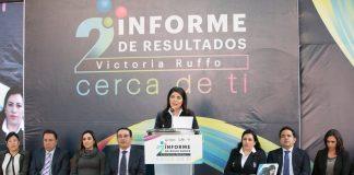 Presenta Victoria Ruffo segundo informe de labores