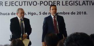 Realizan reunión de trabajo titulares del poder ejecutivo y del legislativo