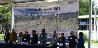 COTAS participó en reforestación para el Valle de Tulancingo
