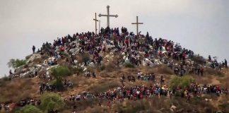 Saldo blanco durante viacrucis en todo Hidalgo