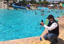 Realizan controles sanitarios en balnearios durante Semana Mayor