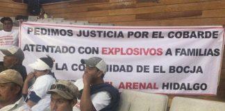 Vecinos de El Arenal piden investigar ataque con explosivo