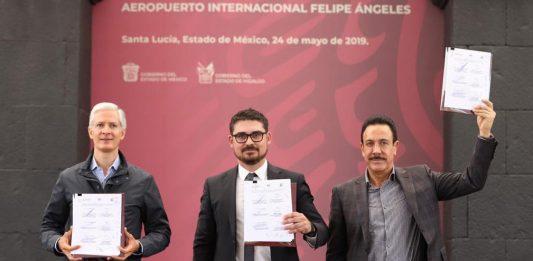 Firman Acuerdo de Colaboración del Aeropuerto de Santa Lucia