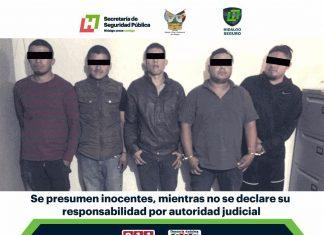 Detienen a 5 con arma en carretera CD Sahagun-Emiliano Zapata