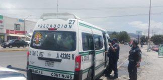 Sancionan a transportistas de Tulancingo por no atender medidas