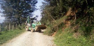 Sopot realiza acciones de limpieza en la carretera Pisaflores- La Peña