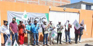 Comienzan tres obras de pavimentación en Mineral de la Reforma